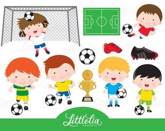 Soccer boys clipart - soccer clipart - 15093