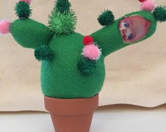 Ornement de bureau Cactus heureux