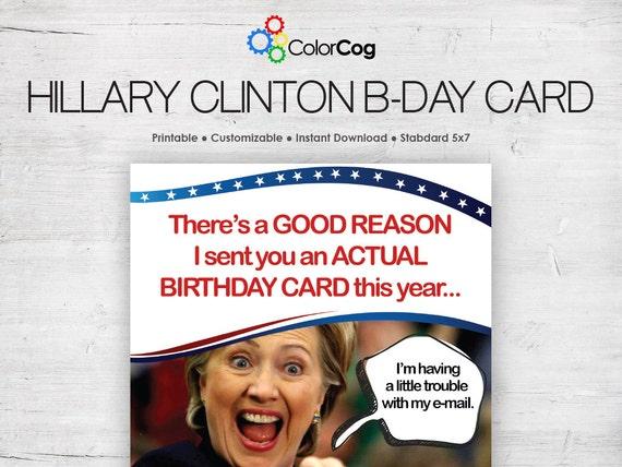 Customizable Printable Birthday Card Pdf Funny Hillary
