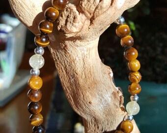 Gold Tigers Eye Citrine Healing Bracelet