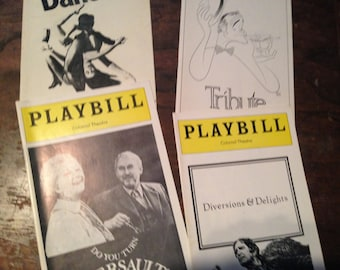 Playbills:  Colonial Theatre 1977, 1978