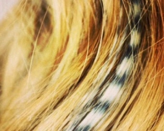 Real * Natural Boho feather hair extensions