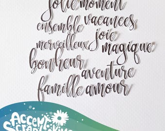 Set of 11 French words cuts (Etsy exclusive)