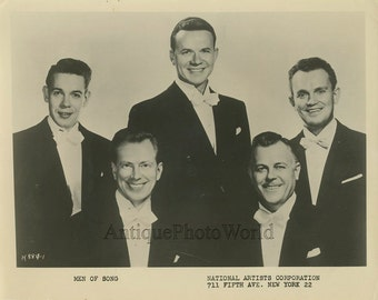 Men of Song singers antique music photo