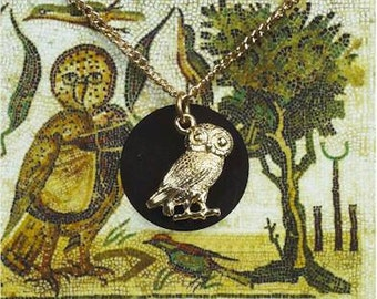 Owl of Minerva roman necklace (Gold Plated)