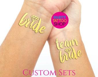 Bachelorette party, bachelorette party favors, bachelorette party tattoo, bride tribe tattoo