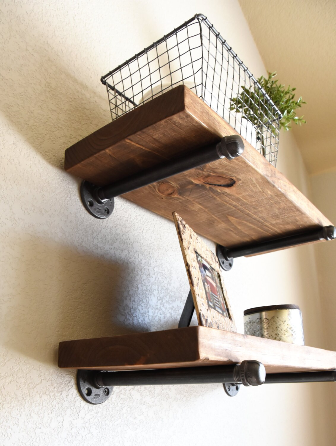 Any Depth And Length Industrial Floating Shelves Rustic