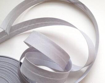 Bias fold Pearl gray 100% plain cotton