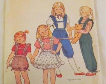 Butterick 4310 CHILDRENS OVERALLS & JUMPER (size 6)  vintage pattern