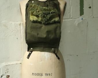 artLAB ARMY No.5 Fashion Vest Bib, Avant garde, womenswear brand, edgy accessories
