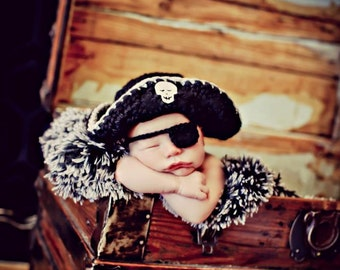 Newborn Photo Prop Baby Boy Pirate Hat