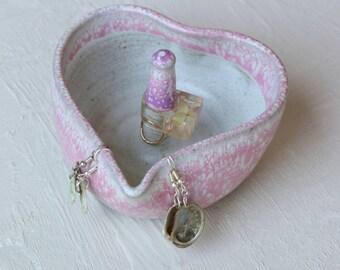 Heartbeat jewelry dish