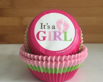 It's a Girl Cupcake Liners, Standard Sized, Baking Cups (50)
