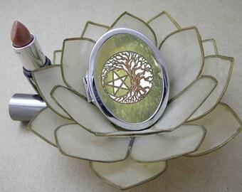 Tree Pentacle, Compact Magic Art Mirror