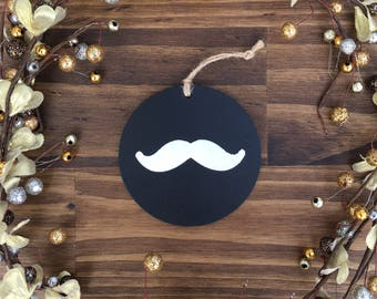 Chalk Board Mustache Ornament