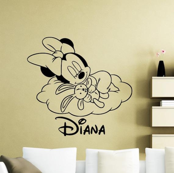 Personalized Minnie Mouse Wall Sticker Cloud Cartoon Disney