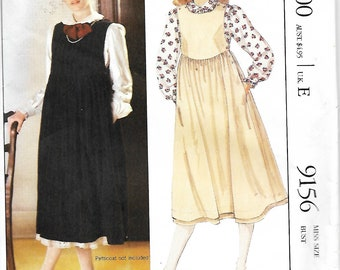 McCall's 9156 Laura Ashley Blouse And Jumper Sewing pattern, Size 10, UNCUT