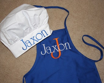 Boy Personalized Toddler Apron With Chef Hat