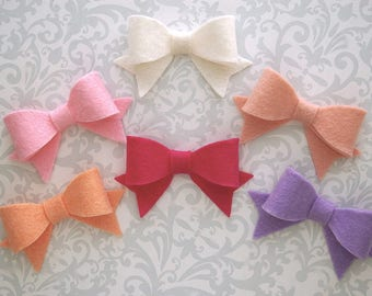 Felt Bow Hair Clip, Felt Bows, Felt Hair Bow, Felt Bow Clip, Baby Bows, Baby Hair Bow, Girls Hair Bows, Toddler Hair Bows, Toddler Bows