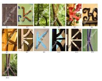 Letter K Word Art