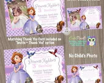 Sofia the first invitation Princess Sofia Invitation