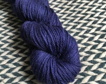 Hand-dyed yarn, Indie dyed yarn, hand dyed yarn NAVY STORM -- dyed to order -- Randall's Island sport superwashmerino-nylon yarn