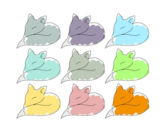 Fox Clip Art - Fox Clipart, Clip Art Fox, Clipart Fox, Woodland Clip Art, Woodland Clipart, Forest Clip Art, Cute Animal Clipart, Tribal PNG