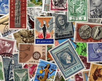 Greece Stamps,50 Diff, Greece Postage Stamps, Greek Stamps, Greek Postage Stamps, Grecian Stamps, Stamps, Postage Stamps