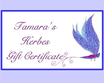 Tamara's Herbes Gift Certificate