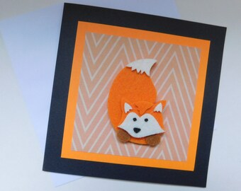 Fox Card - Any Occasion card - Hello card - Thinking of You card - Just for you card - Birthday card - Thank you card - all occasion card