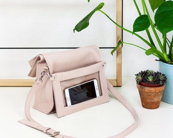 Boxy Bag L Pale Pink