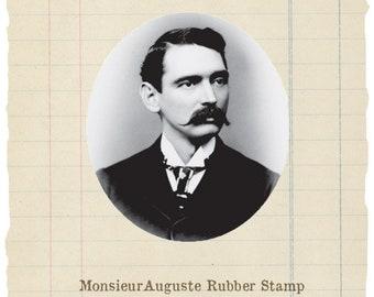 Monsieur Auguste unmounted rubber stamp