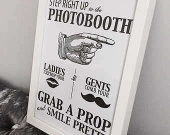 Step Right Up to the Photo Booth Print with Frame