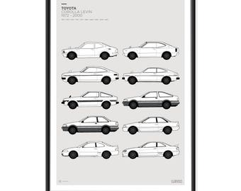 Toyota Levin Generations Poster