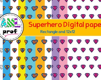 Superhero superman digital paper