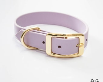 Waterproof Dog Collar in Light Pastel Purple