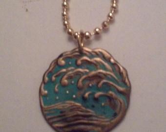 Waves Upon The Sea Pendant