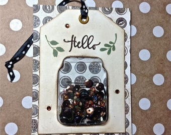 Art Card, Shaker Card, Mason Jar, Home Decor