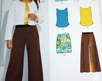 UNCUT, New Look 6132, Sewing Pattern, Misses' Jacket, Two Lengths, Skirt, Shell Top and Pants, Size 10-22, OLD2NEWMEMORIES