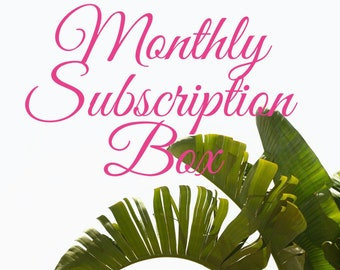 Monthly Monogram Kid's Applique Subscription Box
