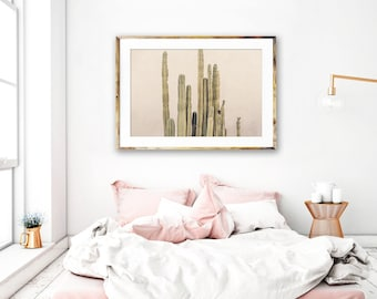 Modern Cactus Print, Palm Springs Photography, Neutral Desert Decor, Beige Wall Art, Cactus Photography, Desert Wall Art, Southwest Decor