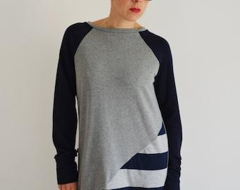 Tunic sweatshirt ,tunic dress, organic clothing,tunic sweatshirts,sweatshirt dress , sweater for women,women's clothing