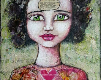 Online Art Workshop ~ 'Healing The Past'  Online Mixed Media Workshop ~ Intuitively Create a Stylised Self Portrait