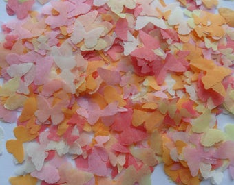 Peach and Apricot Mix Biodegradable Tissue Paper Butterfly Confetti  Wedding Party