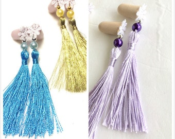 Breakfast at Tiffanys Inspired Ear Plugs-Tassel Ear Plugs- Womens Ear Plugs.