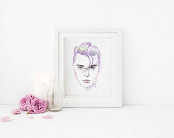 Printable Wall Art Johnny Depp Cry Baby instant download