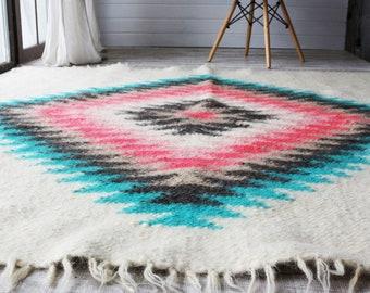 Wool rug/Scandinavian rug/Swedish rug/Nursery rug/Hooked rugs/Nursery decor/Home decor/Hand hooked rug/Carpet/Rug/Area rug/Mom gift