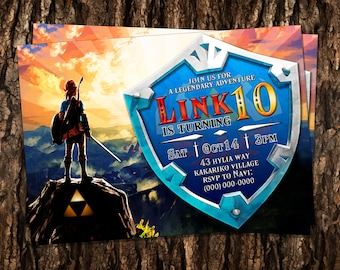 Custom The Legend of Zelda Birthday Invitation - 5x7 or 4x6