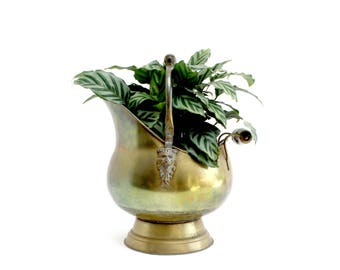 Vintage Brass Coal Bucket, Coal Caddy, Made In Holland