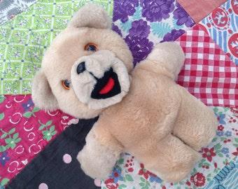 "Vintage 1980s Plush Snuggle Bear Stuffed Toy Promo Early Edition 6"" Korea Russ"